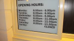 Decent opening times for bodily functions!