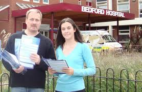 Richard Fuller finds his way to Bedford Hospital