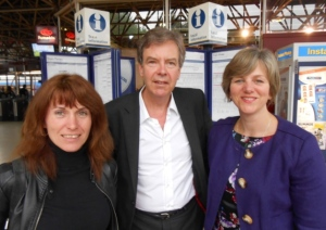 Penny, Dullard Patrick and some anonymous MP at Bedford Station.