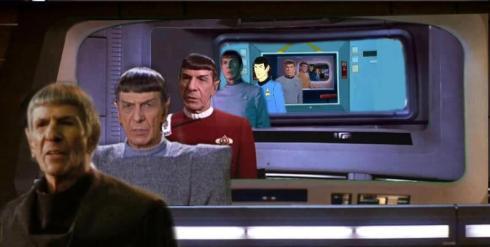 Leonard Nimoy! Beamed up for good!