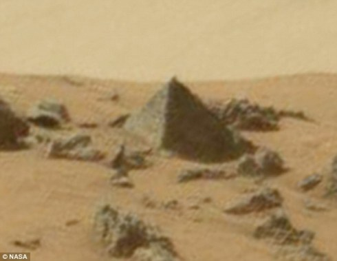 Well I'm convinced! That's a pyramid, no doubt about it!